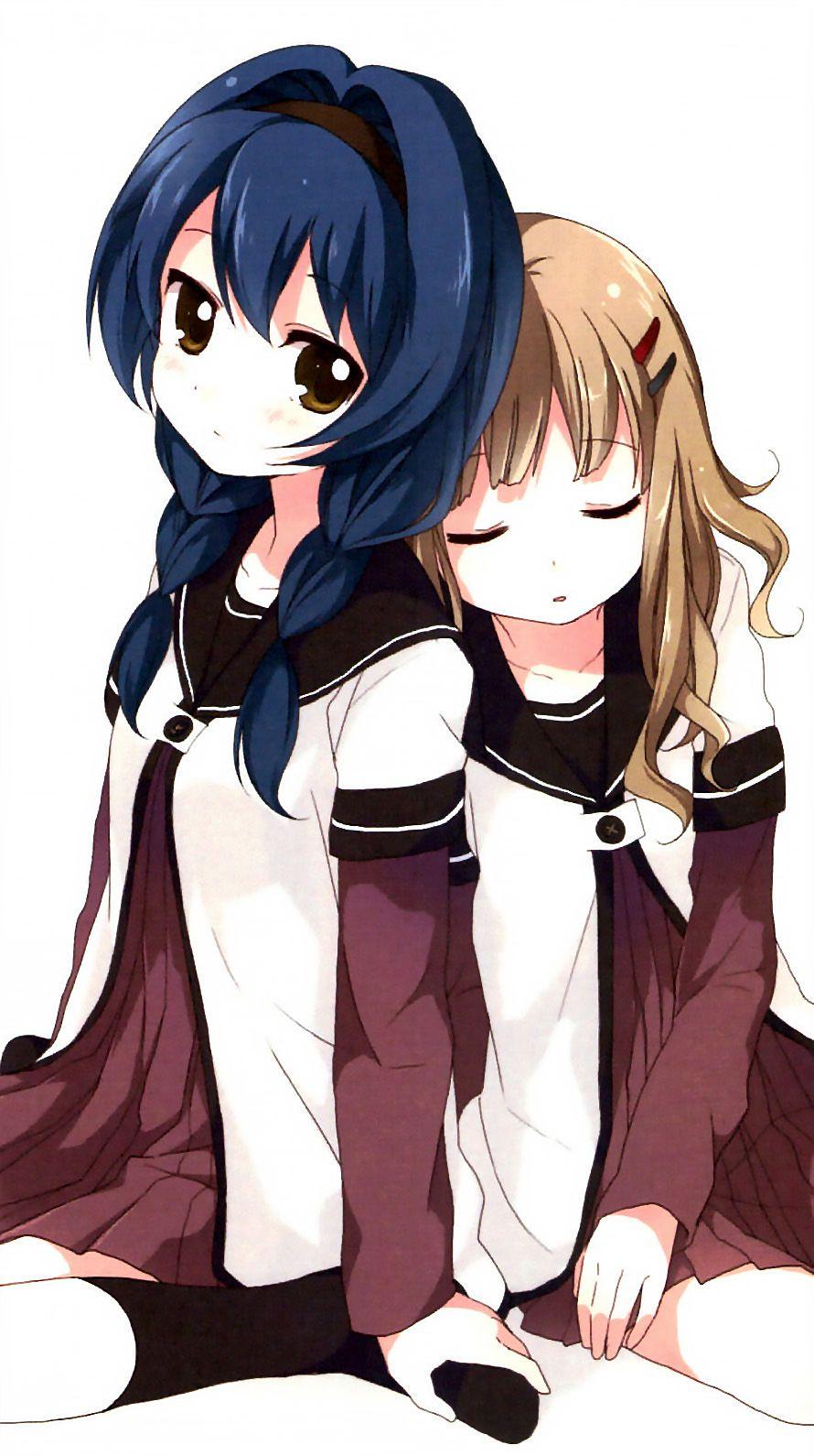 ゆるゆり櫻子&向日葵iPhone壁紙